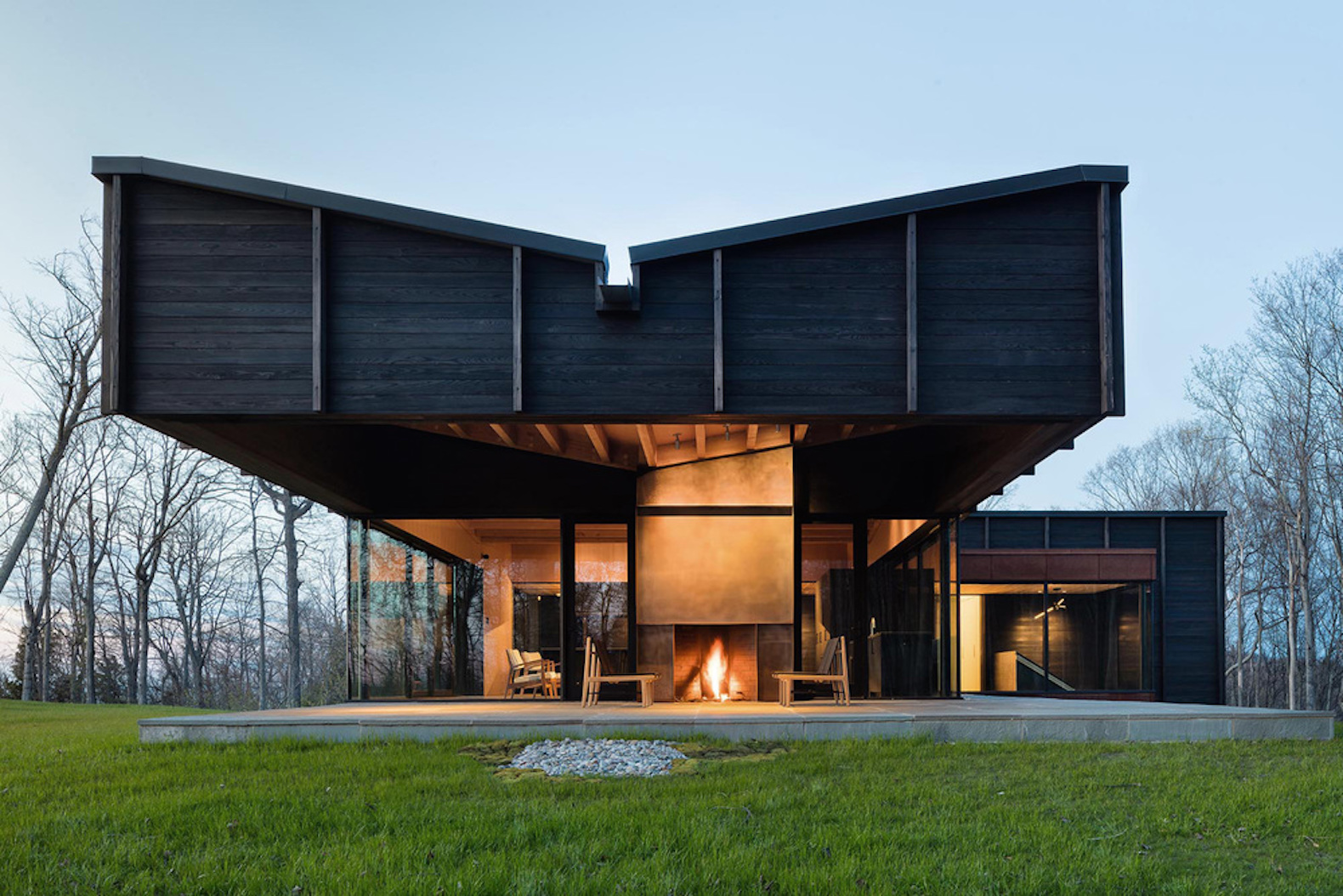 Stunning Lake Michigan home is built from dying ash reclaimed onsite
