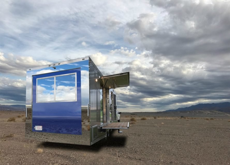 Living Vehicle, HofArc, off grid campers, low impact campers, off grid living, solar powered vehicles, green transportation, green design, green living, aluminum campers, home on wheels, sophisticated living spaces, tiny home living, sustainable materials, green materials, self sustaining trailers