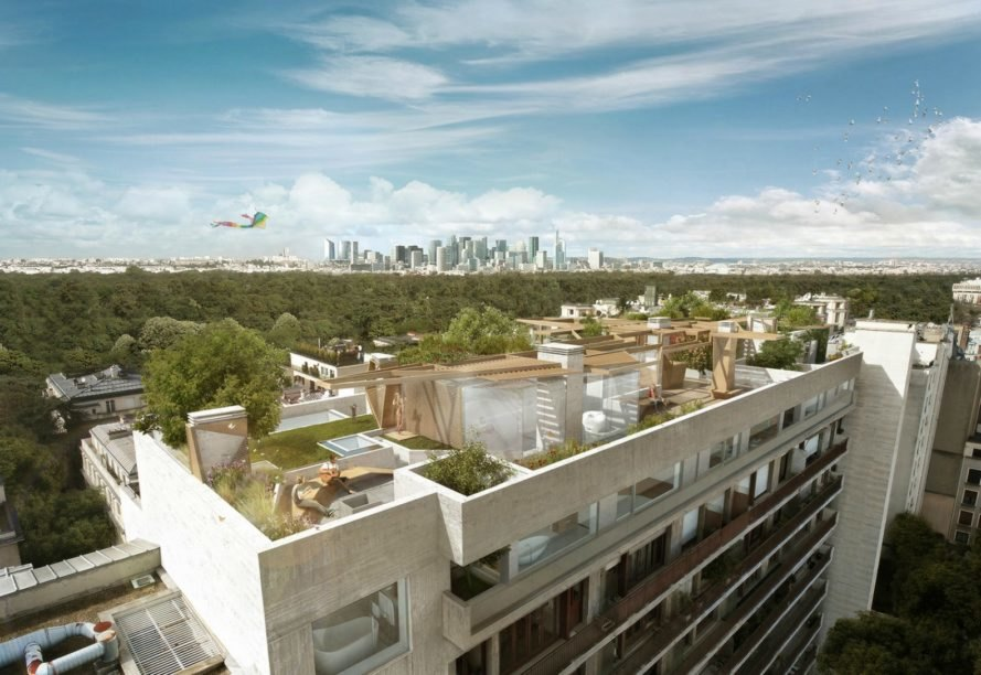 La Foret Urbaine, Matteo Cainer Architects Ltd, green space, home gardens, paris penthouse design, penthouse design, home design, interior design, home vegetation, home renovation, paris architecture, green architecture, home plants, landscape architecture, green space, solar energy, renewable energy, solar-powered penthouses, solar arrays