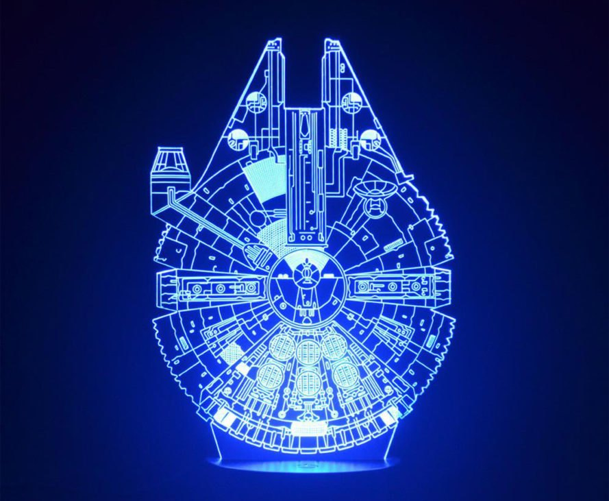 Star Wars LED lamps, Star Wars 3D lamps, Star Wars 3D LED lamps, Star Wars optical illusion lamps, Darth Vader lamp, Millennium Falcon lamp, BB-8 lamp, Yoda lamp, Death Star lamp, Stormtrooper lamp, Star Wars lamp