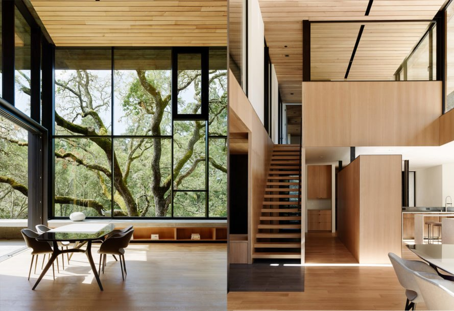 Miner Road by Faulkner Architects, weathering steel facade, Corten Steel home, weathering steel architecture, site specific architecture in Truckee, Truckee contemporary home,