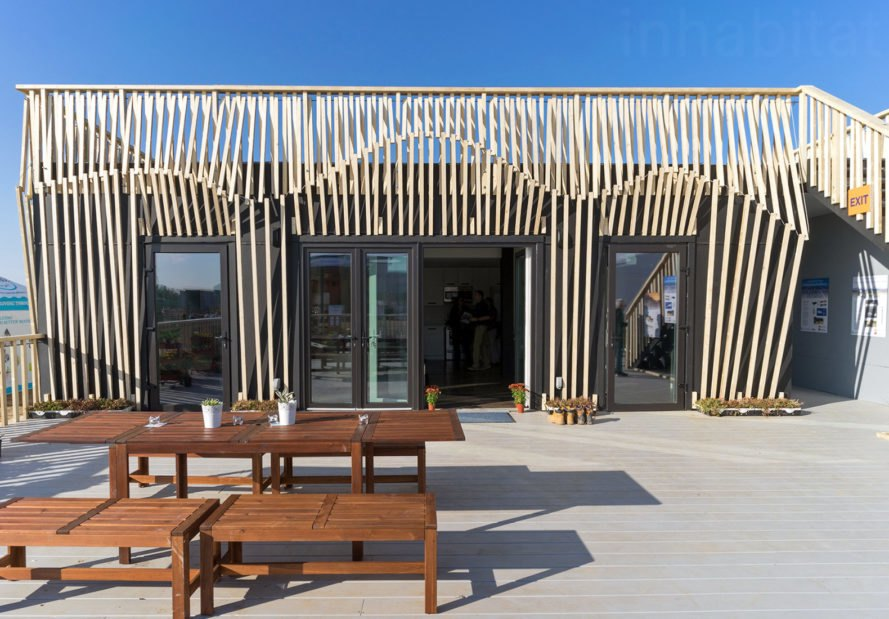 RISE at Solar Decathlon 2017, RISE by Berkeley and Denver students, RISE sustainable architecture, Solar Decathlon 2017, Solar Decathlon Berkeley, Solar Decathlon Denver, stackable and scalable architecture, modular prefab homes, net-zero energy affordable housing