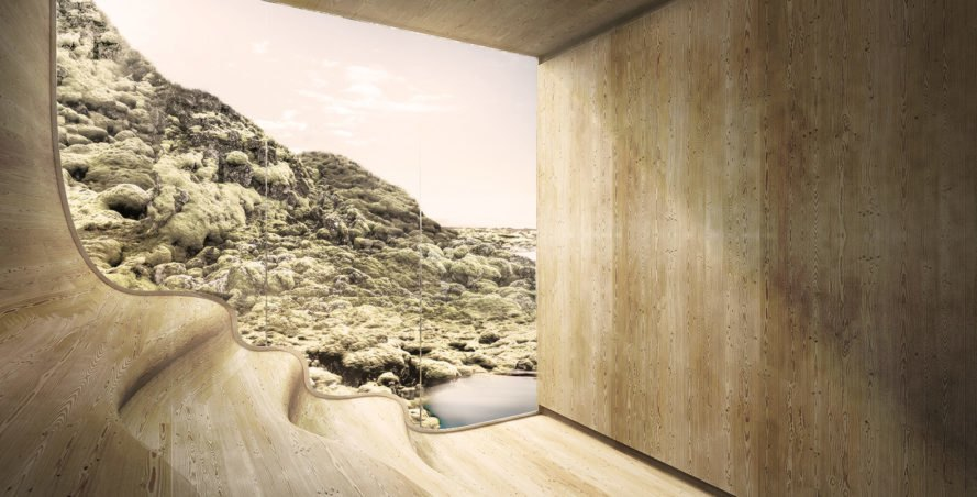 Red Mountain Retreat, Johanners Torpe Studios, eco-resort, Iceland, wellness and spa, green roofs, swimming pool, green architecture, traditional building techniques, glaciers
