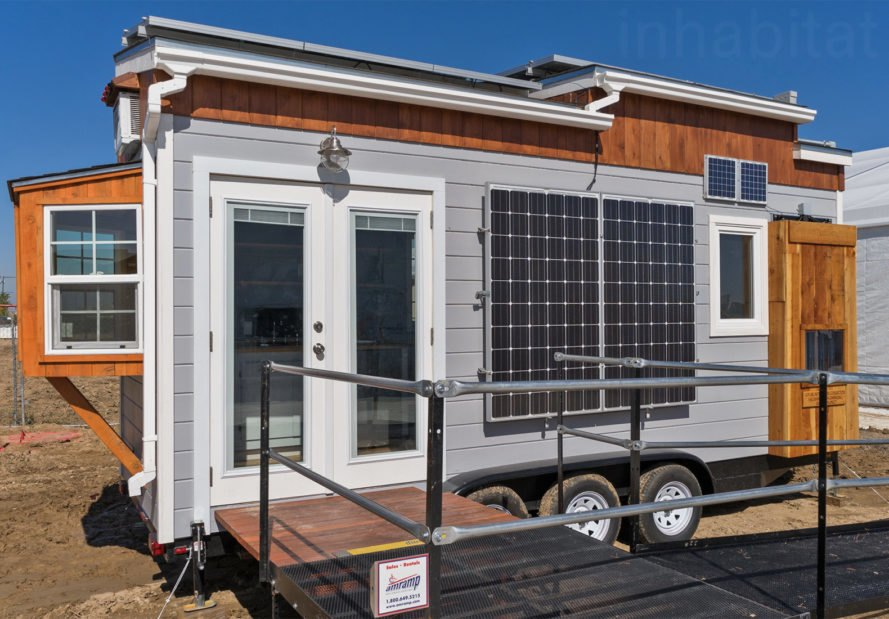 Sacramento State Tiny House, tiny homes, tiny home on wheels, sacramento state tiny home exhibition, solar decathlon 2017, SMUD Tiny House Competition, energy harvesting system, energy efficiency, water catchment systems, green tiny home, sustainable tiny home, wind power, solar power, off grid tiny homes, off grid living, tiny home design, Sol Vespidae