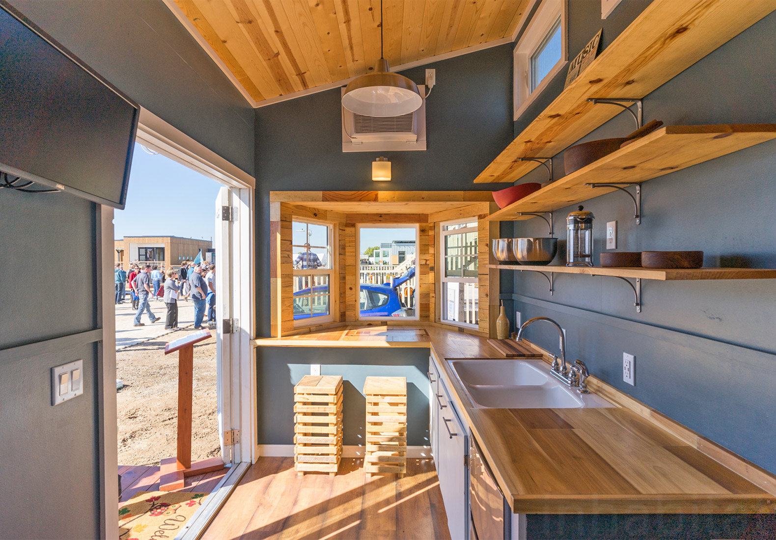 Student built solar powered tiny home represents new for Small house design competition