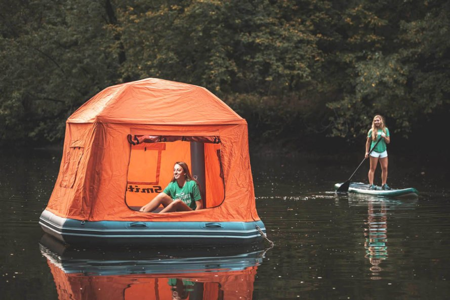 SmithFly, Shoal Tent, tent, tents, floating tent, floating tents, floating, camp, camping, raft, rafts, inflatable raft, inflatable rafts, inflatable, nature, outdoor, outdoors, paddle, paddle board, paddle boarding, stand up paddle boarding, water, lake, river