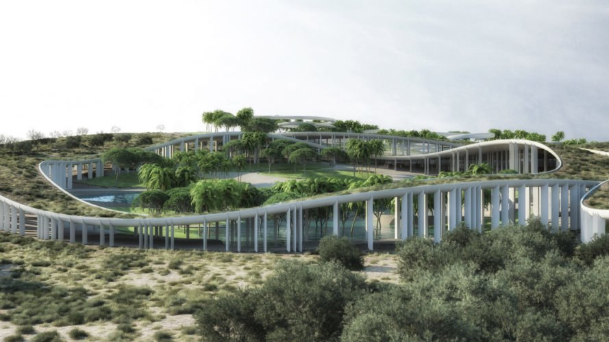 Tetusa Oasis Thermal Resort by ENOTA, Cesme Tetusa Oasis Thermal Resort, Tetusa Oasis Thermal Resort, Cesme resort, green-roofed health and wellness resort, Cesme modern architecture, Turkey green roofs