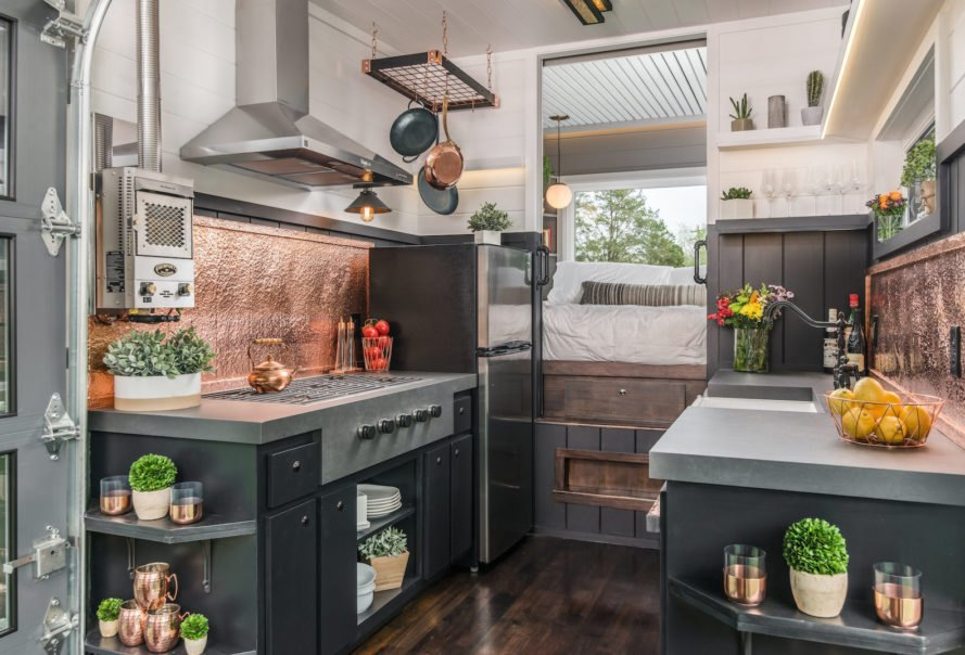 escher by new frontier tiny homes new frontier tiny homes escher tiny house - Tiny Home Kitchen Design