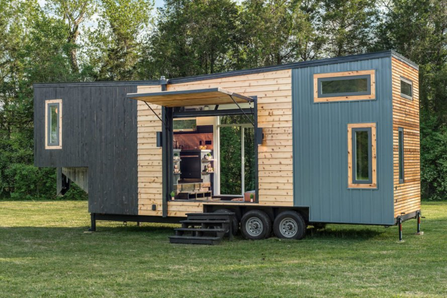 Breathtakingly beautiful tiny home is surprisingly for Leaf house tiny house