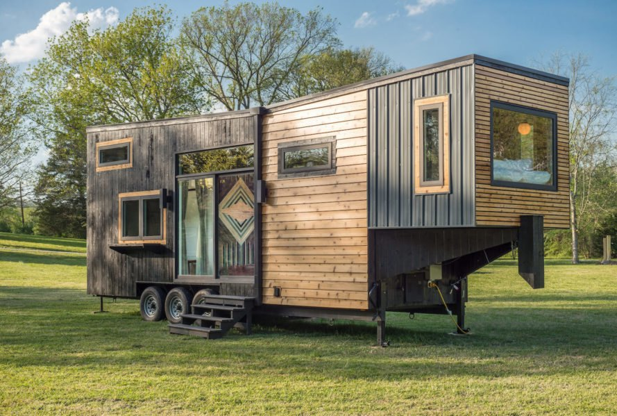 Escher by New Frontier Tiny Homes, New Frontier Tiny Homes, Escher Tiny House, luxurious tiny homes, expensive tiny homes, custom tiny home builds, space saving design tiny homes, space saving design in the home, off grid ready tiny houses