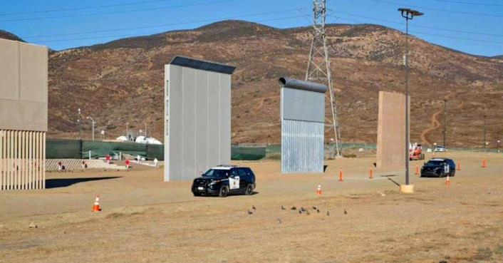 photo image Eight prototypes for Trump's wall near US-Mexico border pass military tests for impenetrability