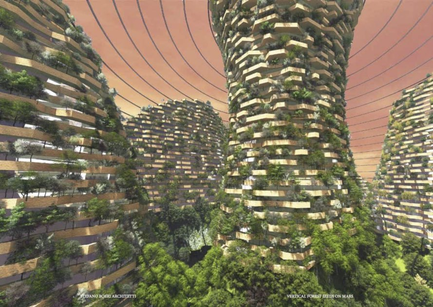 Vertical Forest Seeds on Mars, Vertical Forest Seeds on Mars SUSAS 2017, SUSAS 2017 Shanghai, Vertical Forest Seeds on Mars by Stefano Boeri Architects, Vertical Forest Seeds on Mars by Tonji University Future City Lab, China Space Agency Shanghai, Shanghai 2117