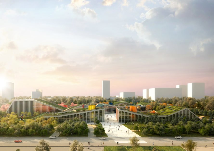 Zhangjiang Future Park by MVRDV, Zhangjiang Future Park, Zhangjiang Future Park Shanghai, Zhangjiang Future Park Pudong, Shanghai mixed use development, Shanghai green roofs, green roof development in China, MVRDV in China, MVRDV Shanghai