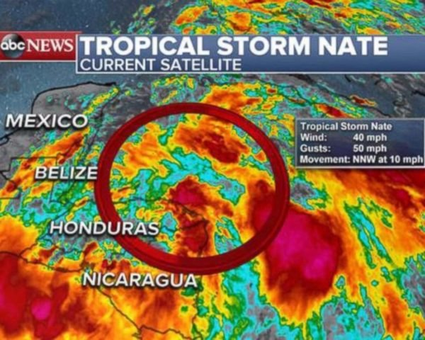 Tropical Storm Nate, Hurricane Nate, storm, hurricane, satellite image