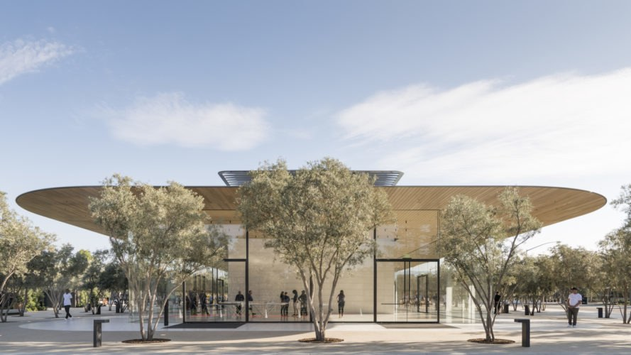Apple Park Visitor Center, Apple Park architecture, Apple Park Visitor Center by Foster + Partners, Foster + Partners Apple Park,