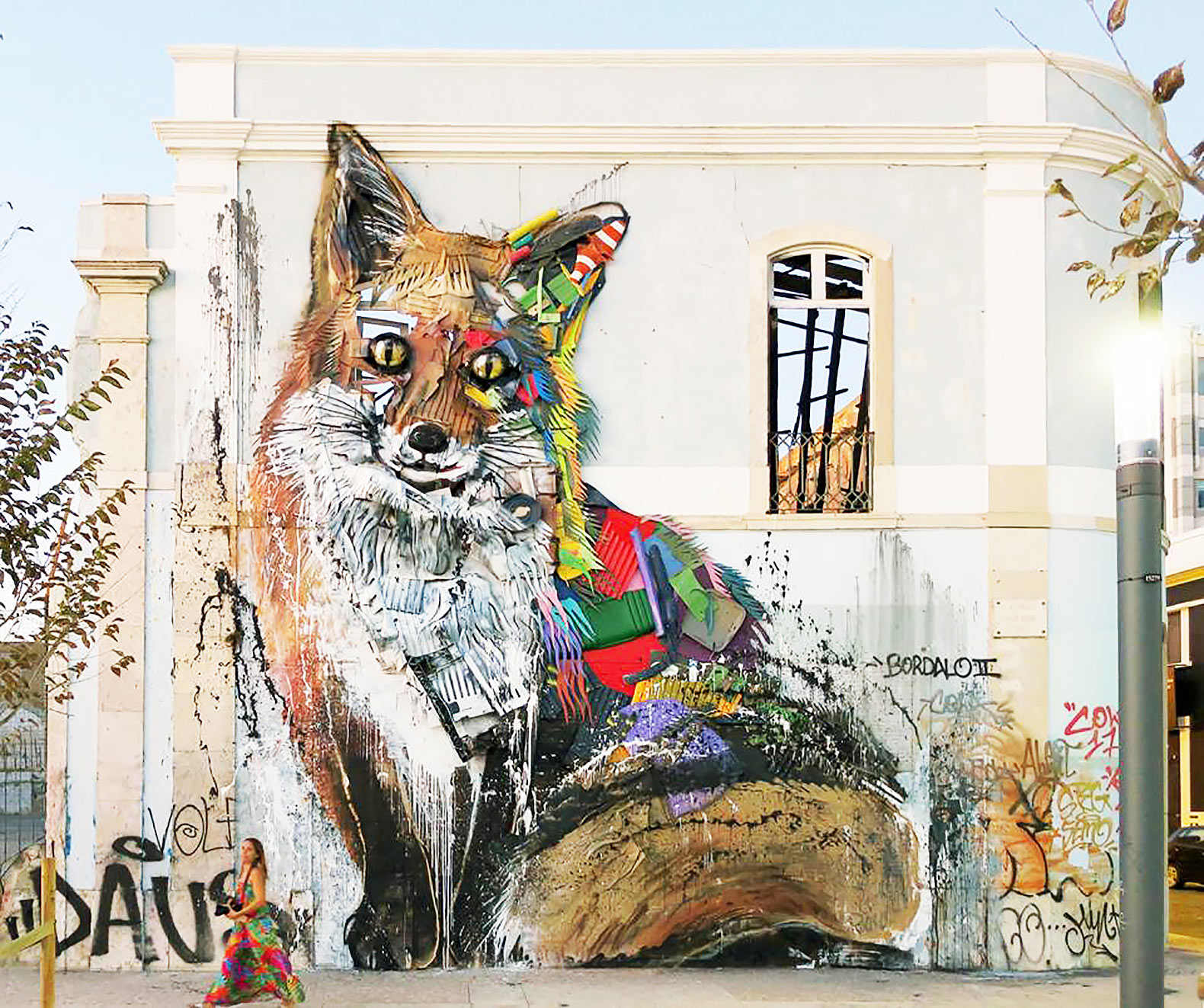 This breathtaking new street art is made entirely out of trash