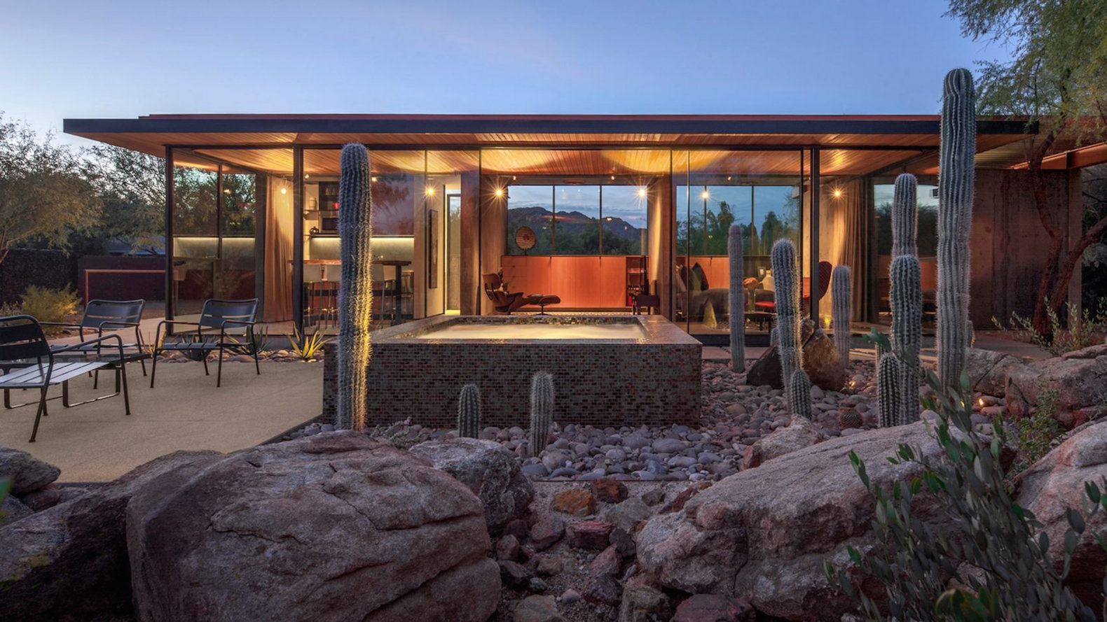 This swanky desert guesthouse was fashioned out of a former horse barn
