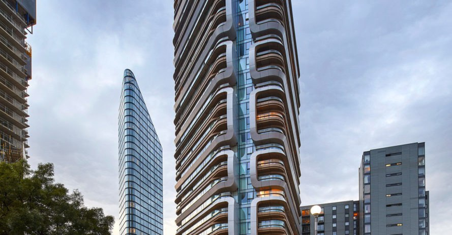 Canaletto Tower, green tower, London, UNStudio, residential tower, Ben van Berkel, green architecture, green façade, minimize heat gain, swimming pool, microclimate