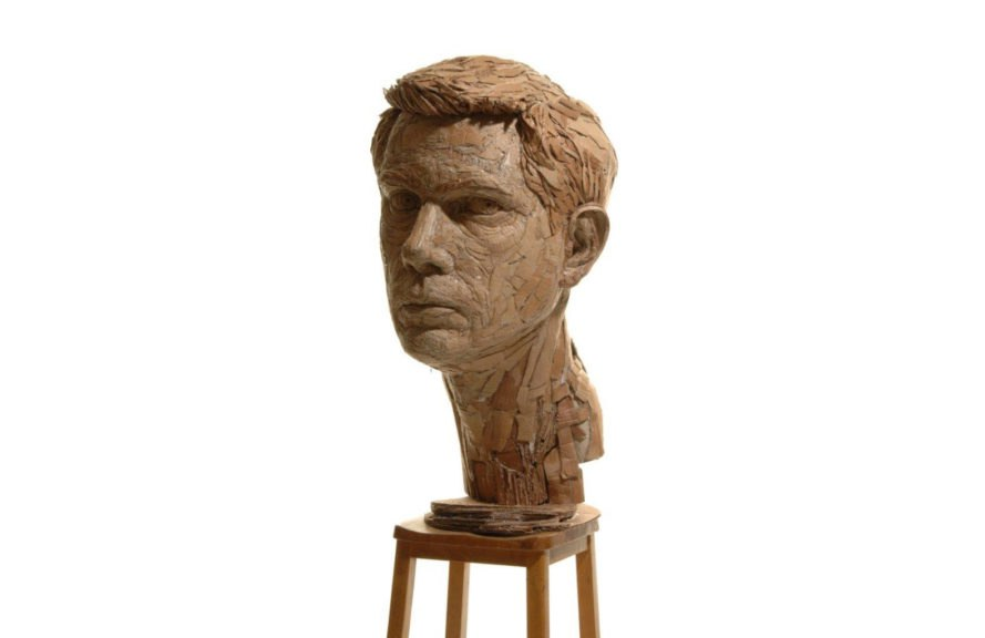 cardboard sculptures by James Lake, James Lake art, accessible art, high art and low art, cardboard art, cardboard sculptures, cardboard art workshops, recyclable materials in art,