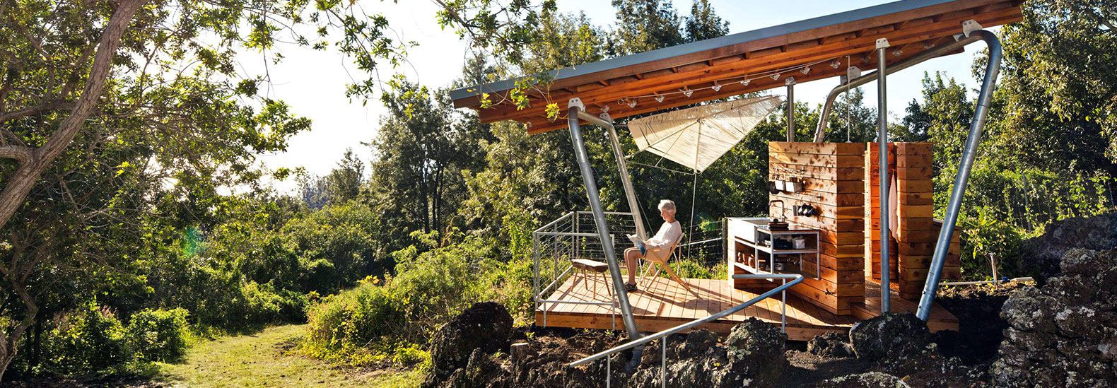 Low Impact U0027Outside Houseu0027 Is Built On An Old Lava Flow In The Mountains Of  Maui