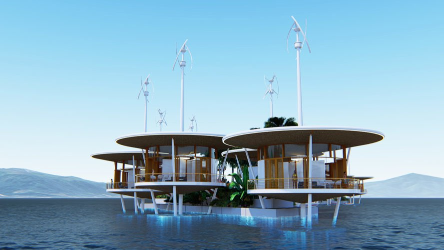 Seasteading Institute, Blue Frontiers, floating city, floating cities, floating, architecture