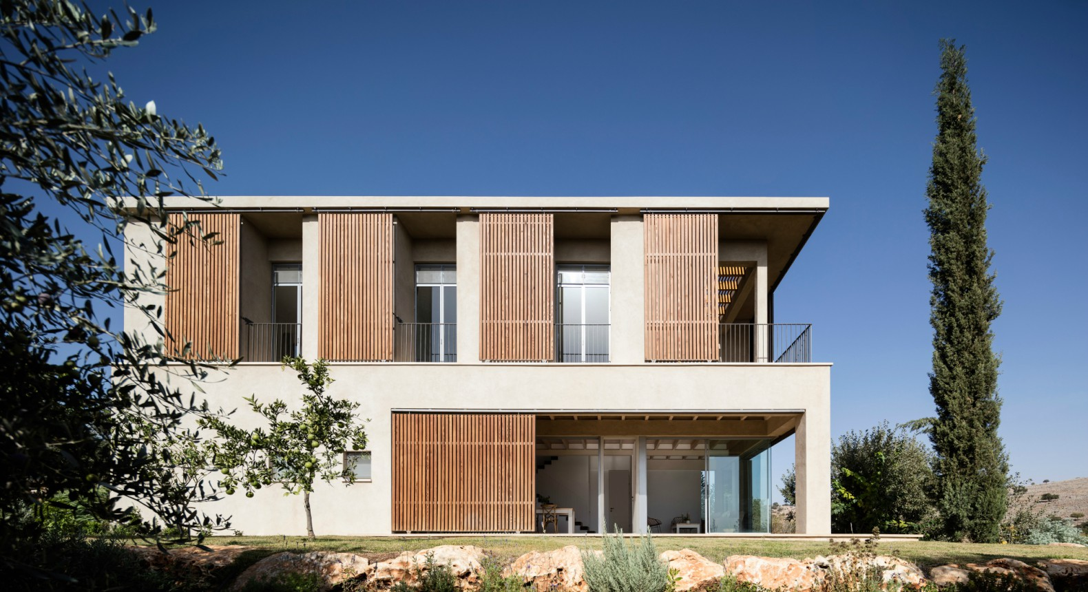 Gorgeous home overlooking the Sea of Galilee has a sun-shielding ...