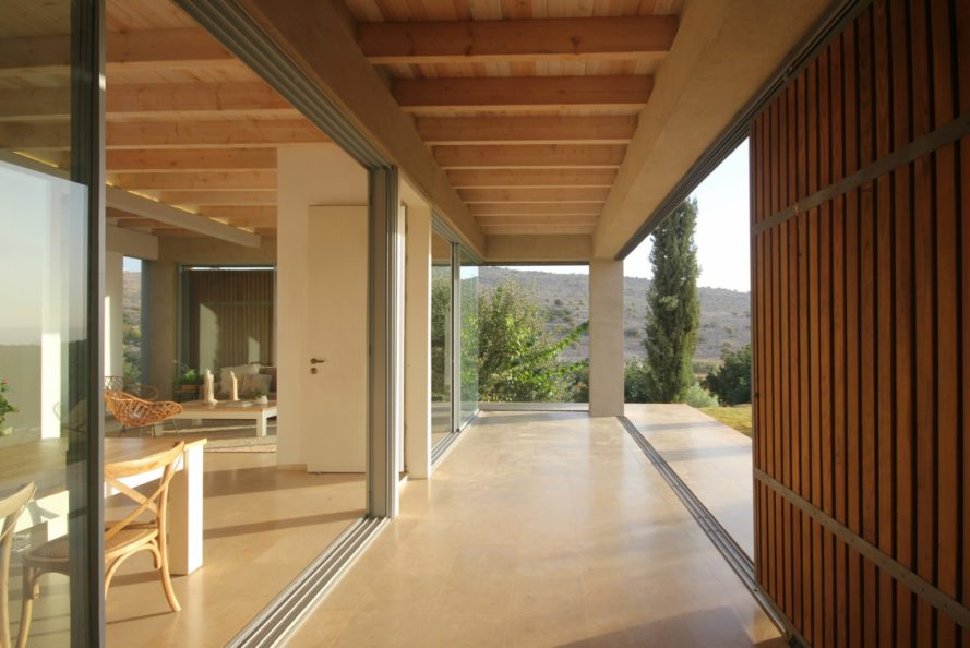 Golany Architects, Sea of Galilee, home design, tel aviv architects, sliding facade, home architecture, wooden shutters, natural light, flexible home facades, sliding exteriors, sliding walls, homes in mount canaan, interior walkways, natural shading, interior design
