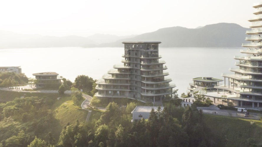 Huangshan Mountain Village by MAD Architects, Huangshan Mountain Village, Huangshan residential developments, MAD Architects residential projects, mountain-like architecture, Huangshan architecture, mountain-shaped architecture China, Shanshui architecture