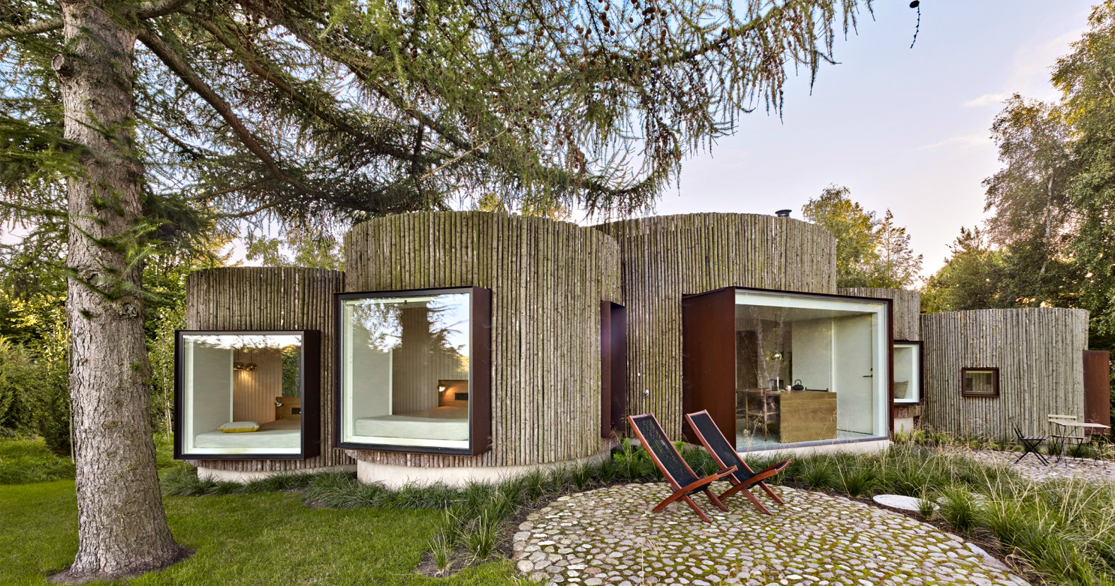 Tiny House Vacation Rentals You Can Rent This Cylindrical Log Cabin On Denmark S