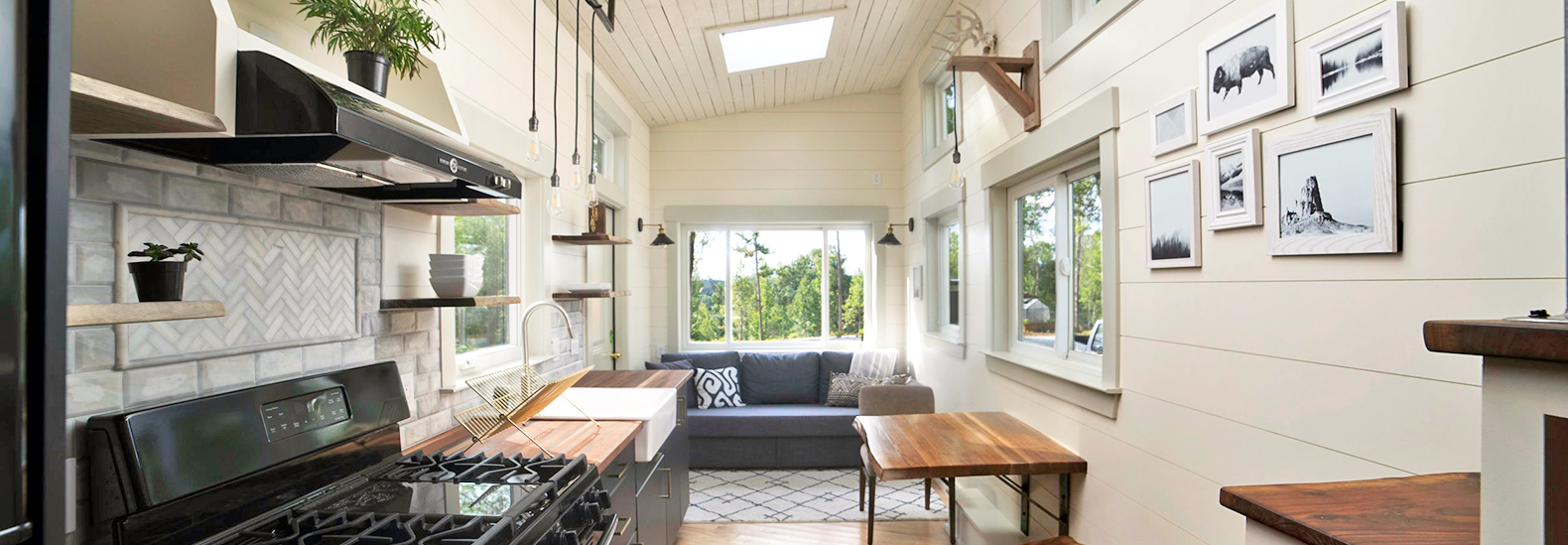 This light-filled tiny house is made almost entirely of reclaimed ...