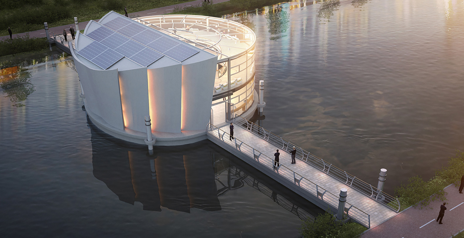 This Solar Powered Floating Farm Combines Agriculture And