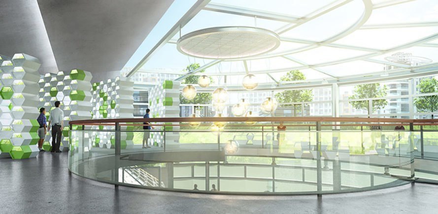 Lotus urban farm, floating structures, urban farm, solar power, greenhouse, hydroponics, green architecture, photovoltaics, sustainable food, global warming