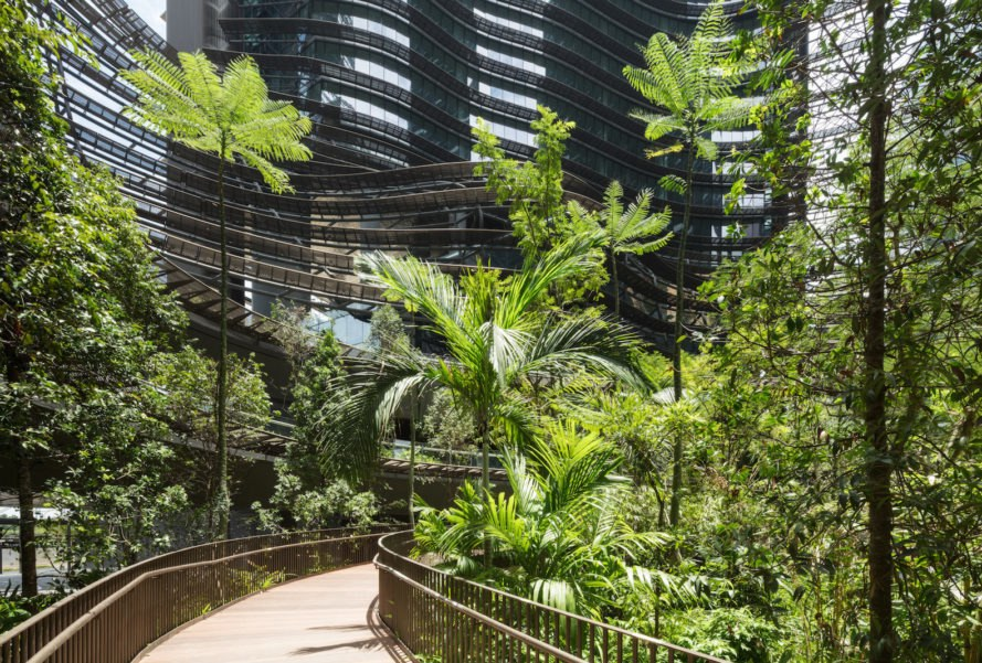 Marina One by ingenhoven architects, Marina One by A61, Marina One by Gustafson Porter + Bowman, mixed use, Marina One garden, Singapore city in a garden, LEED Platinum architecture Singapore, Marina Bay CBD mixed use, Marina One Singapore