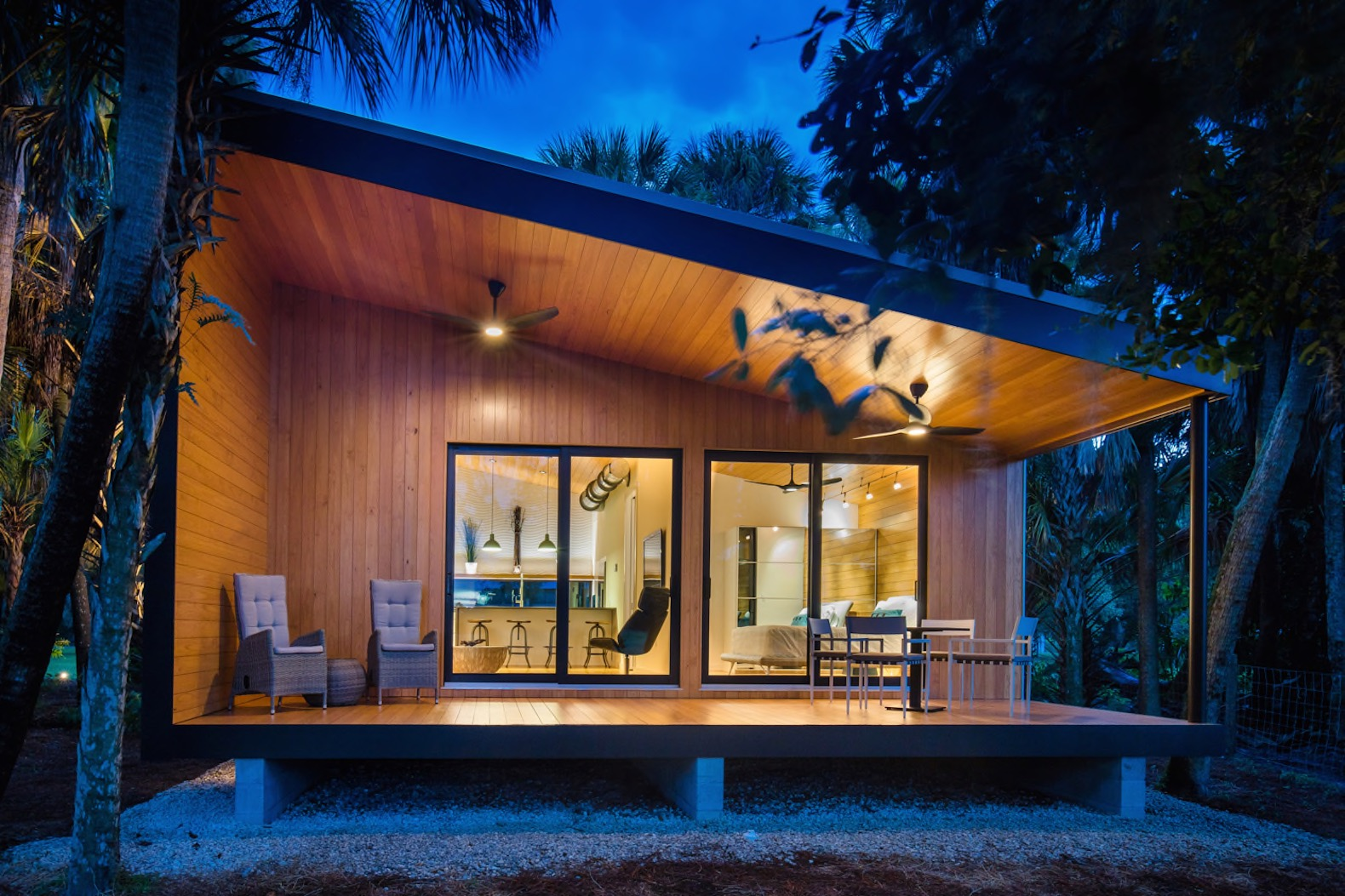 Son Builds Modern Dream Cabin From Recycled Materials For His Aging Father