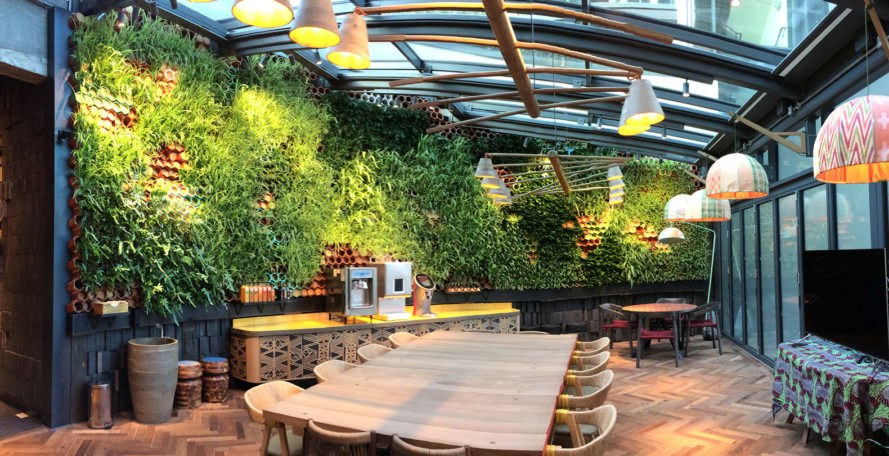This Restaurant In London Has A Gorgeous Living Wall That