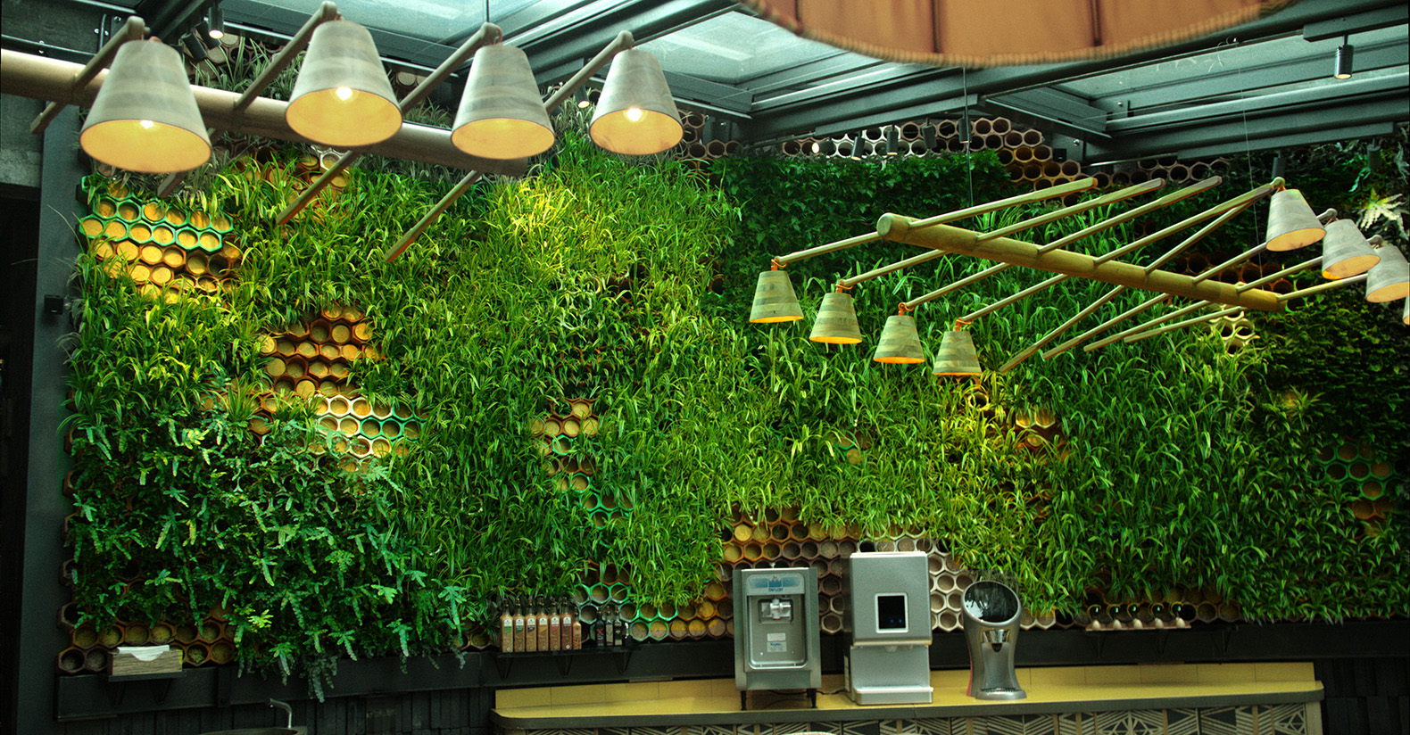 This Restaurant In London Has A Gorgeous Living Wall That Purifies