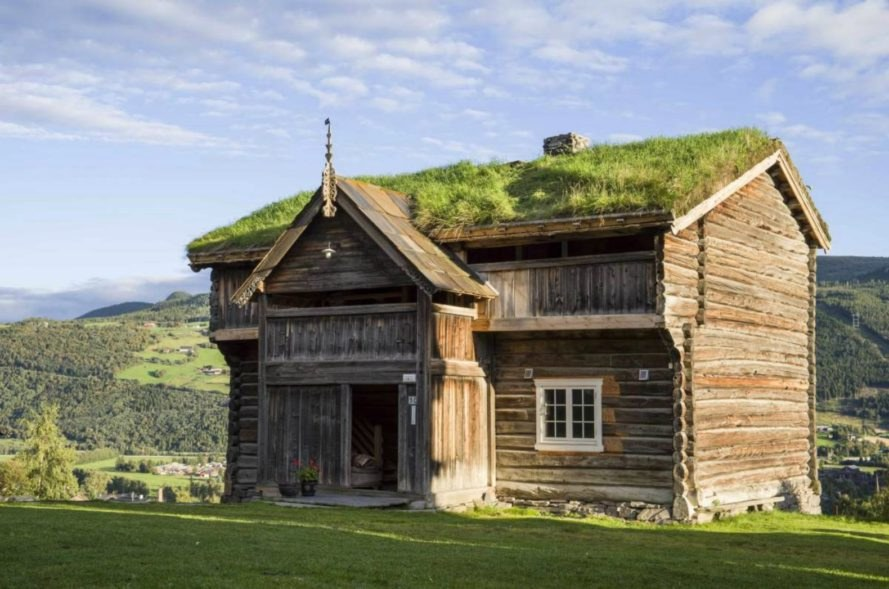 Nordigard Blessom Farm, green roofs, Norwegian architecture, Norwegian green roofs, Norwegian shelter, Norwegian farms, Norwegian lodging, Norwegian camping, green roofed farms, norway landscape, Rondane National Park, green roofs, farm conversion, rustic lodgings, cabins in norway,