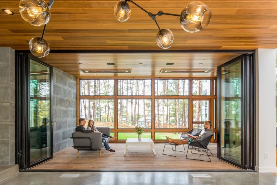 Northern Lake Home by Strand Design, Scandinavian design in Minnesota, Scandinavia inspired interior design, luxury Minnesota home in the woods, rift sawn white oak interior
