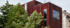 Rusty House, OK PLAN ARCHITECTS, sheet metal, CorTen, exposed concrete, concrete, Czech Republic, green renovation