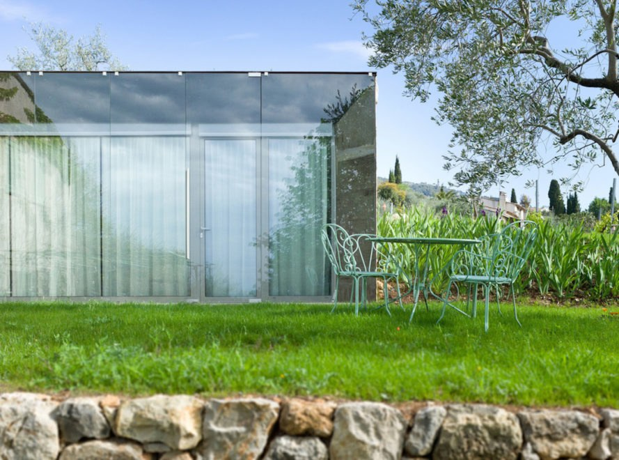 SPE House by Ellena Mehl Architects, SPE House, SPE House French Riviera, doubled glazed wall extension, green roof extension, French Riviera modern architecture