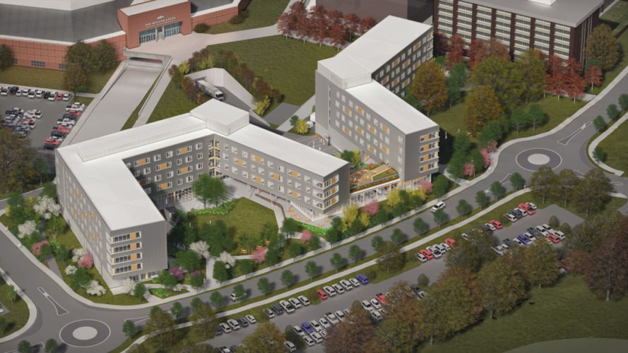 Stadium Drive Residence Halls by Leers Weinzapfel Associates, Stadium Drive Residence Halls, cross laminated timber academic building, CLT residence halls, University of Arkansas CLT architecture, CLT buildings in US