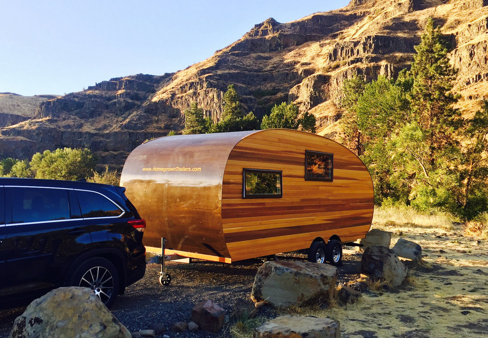 The Timberline camper lets you hit the road in handcrafted, sustainable style