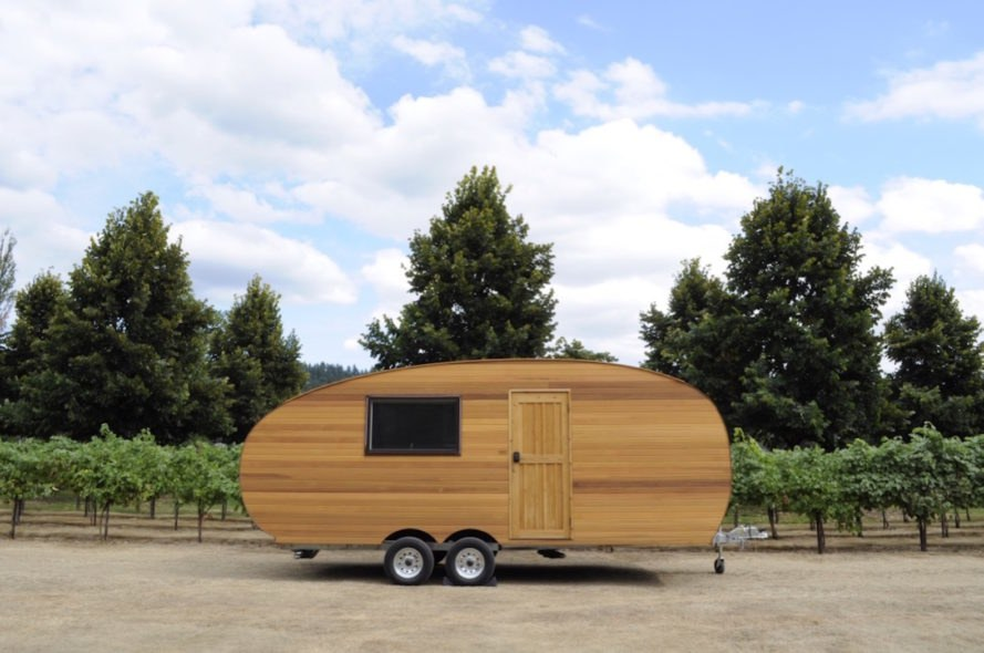 Timberline camper by Homegrown Trailers, energy efficient trailer, off grid camper, off grid trailer, handcrafted camper, timber camper, Timberland trailer, eco-friendly travel trailer,