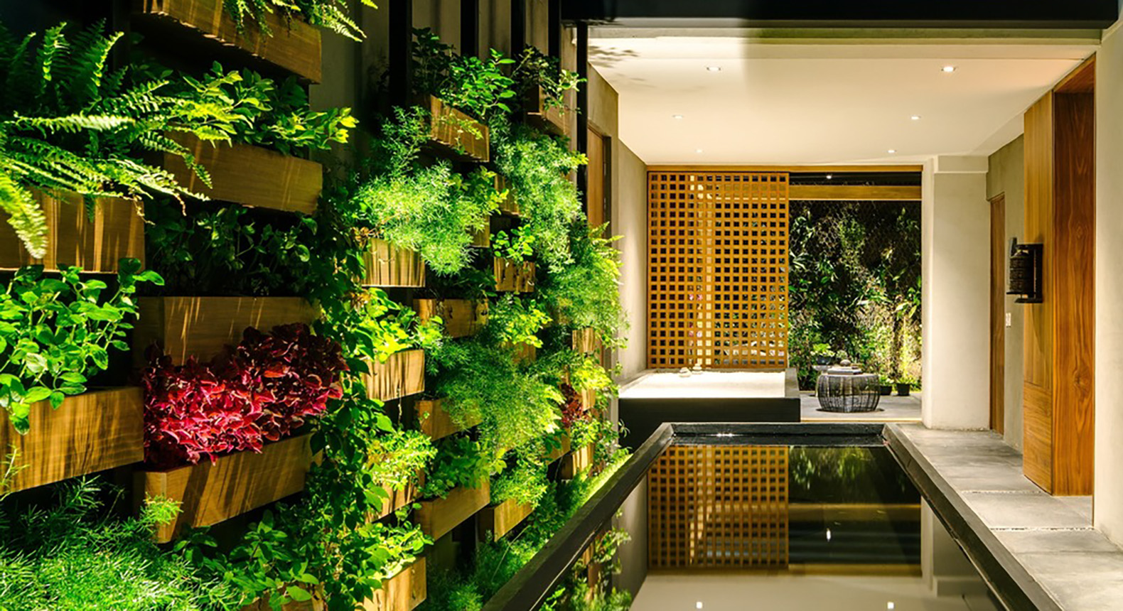 Verdant Villa Jardín has a gorgeous vertical garden in Mexico City