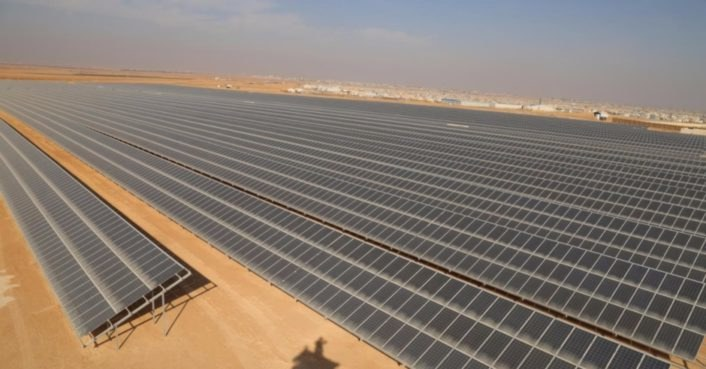 photo image World's largest solar plant in a refugee camp opens in Jordan
