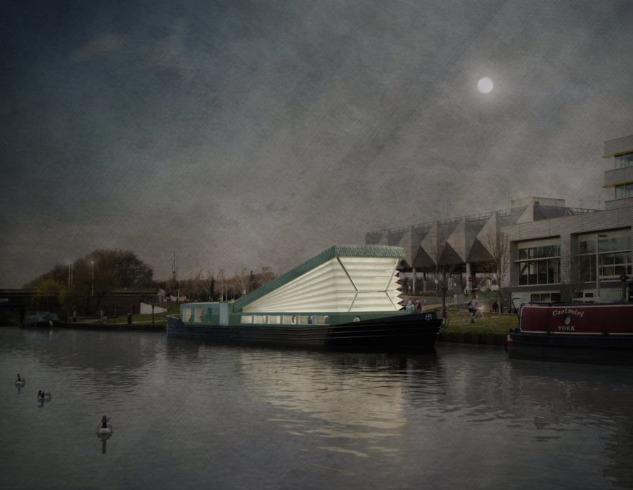 Floating Church in London, Floating church, floating church and community center, floating church by Denizen Works, floating church by diocese of London, London floating architecture,