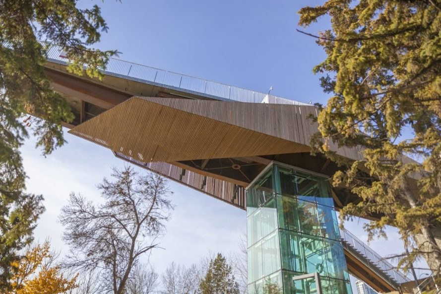 100 Street Funicular by Dialog Architects, Edmonton River Valley, Edmonton funicular, Canadian funicular, funicular project by Dialog Architects, Frederick G Todd Lookout, funicular in urban parklands,