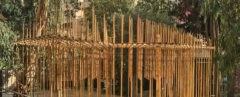 Bamboo Pavilion by Bezalel Academy of Arts and Design, Bezalel Academy of Arts and Design Jerusalem, Bezalel Academy of Arts and Design design/build, bamboo architecture pavilion, student construction bamboo architecture, bamboo pavilion in Jerusalem, The Bamboo Center Israel, bamboo design/build