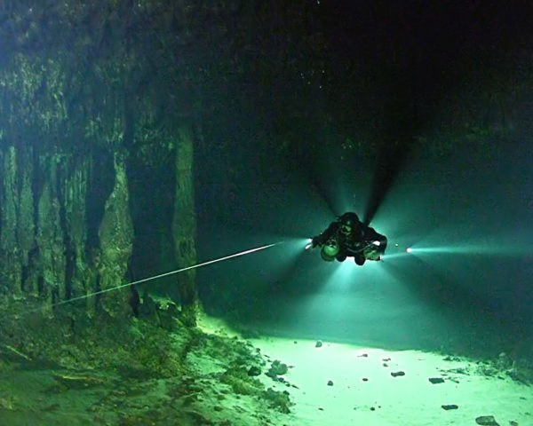 Cave, underwater cave, flooded cave, Mexico cave, diver, dive