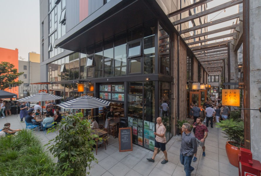 Chophouse Row by Graham Baba Architects and SKL Architects, Chophouse Row Seattle, Chophouse Row adaptive reuse, Chophouse Row architecture, Chophouse Row 12th Avenue Marketplace, Chophouse Row the Mews, ULI Seattle, AIA Seattle Honor Award, adaptive reuse Seattle